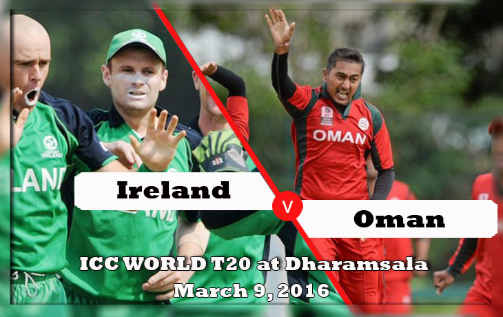 Ireland vs Oman icc world t20 2016