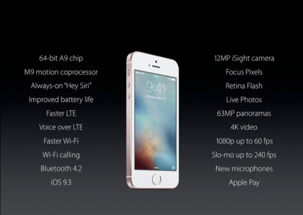 apple iphone se specification image