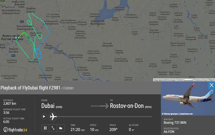 russian plane crash flydubai boeing 737