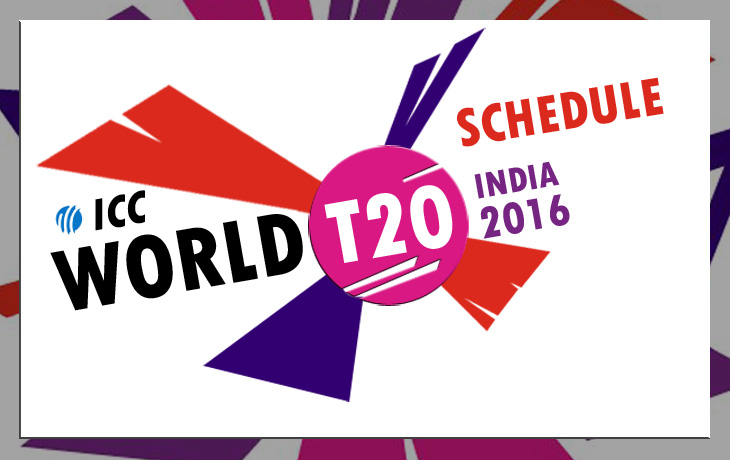 icc t20 world cup 2016 schedule