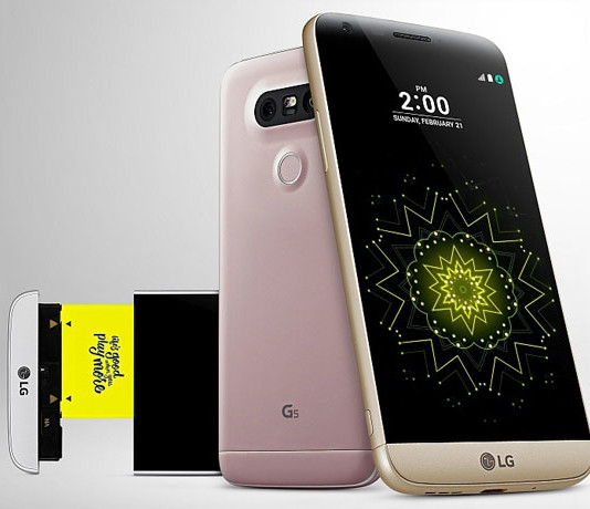 LG G5 with removable battery image