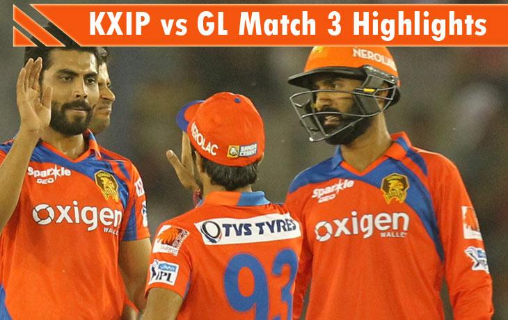 KXIP vs GL Highlights