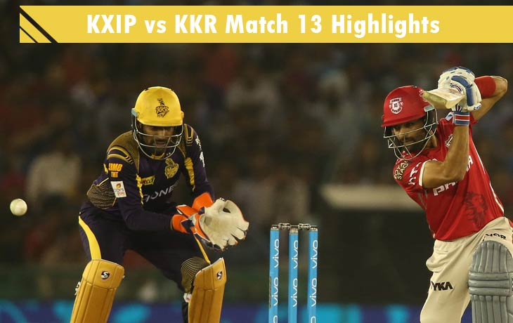 KXIP vs KKR highlights