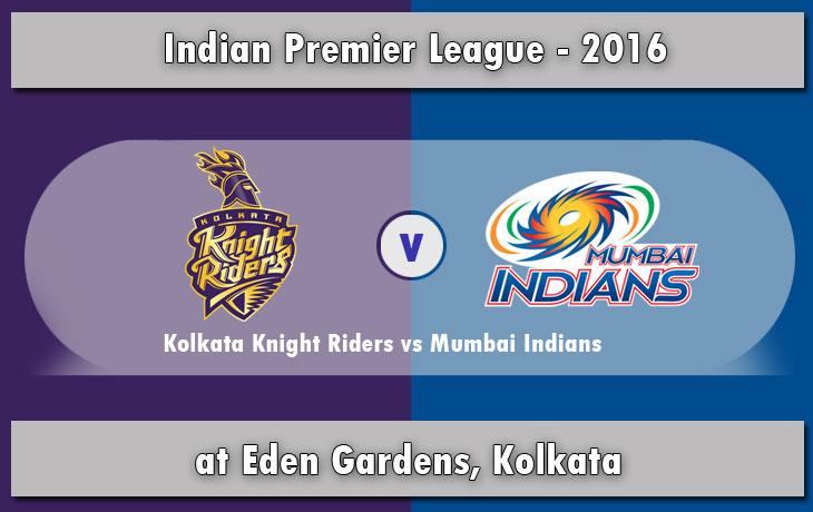 IPL 2016: KKR vs MI Match 5 - Live Score & Streaming Updates