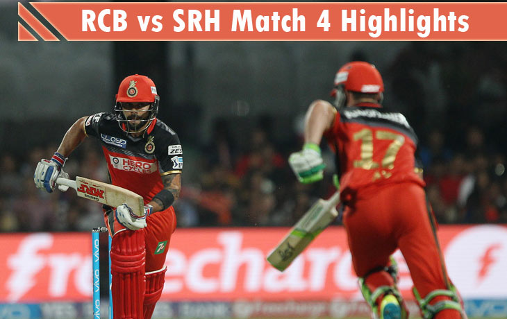rcb vs srh highlights
