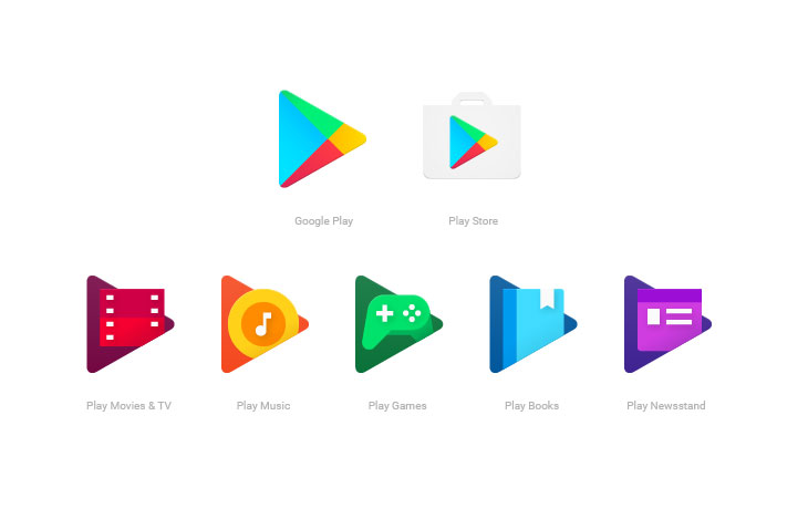 new google play app icons