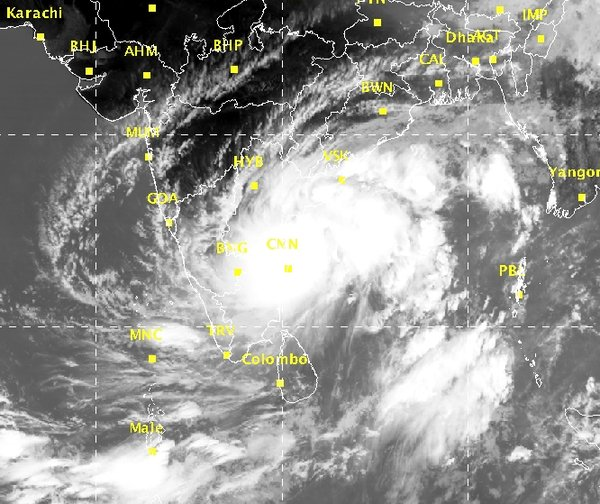 Cyclone Alert for Tamil Nadu