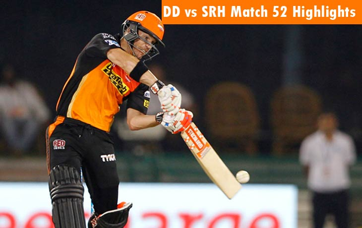 DD vs SRH Highlights