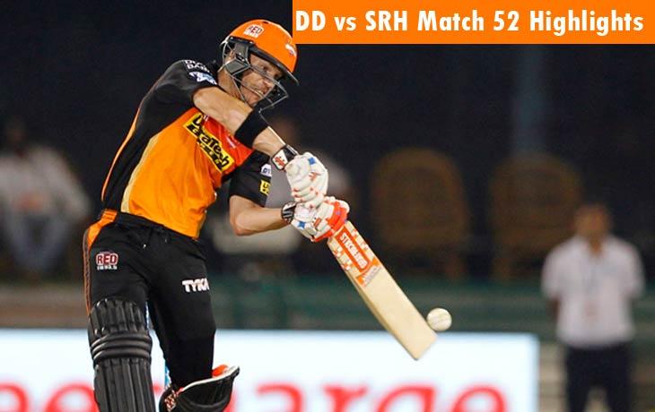 DD vs SRH Highlights