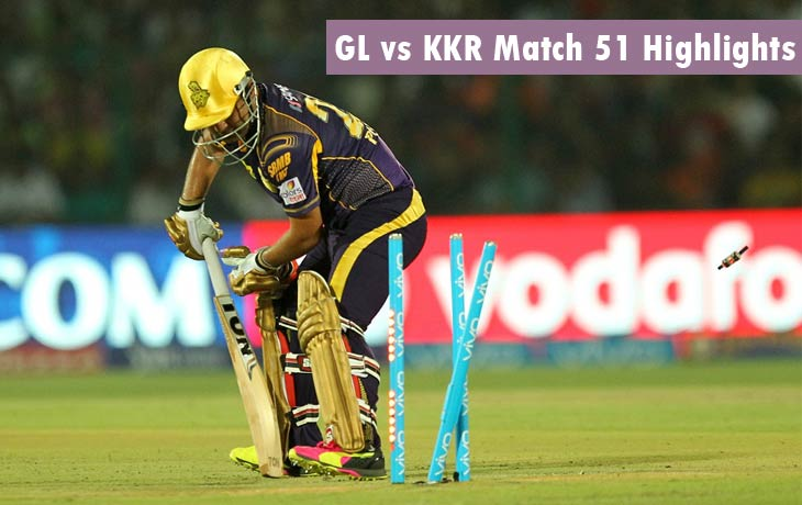 GL vs KKR Highlights