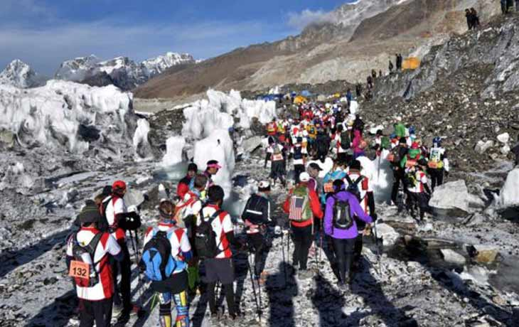 Mount Everest Marathon Nepali Soldier Wins & Made a Record