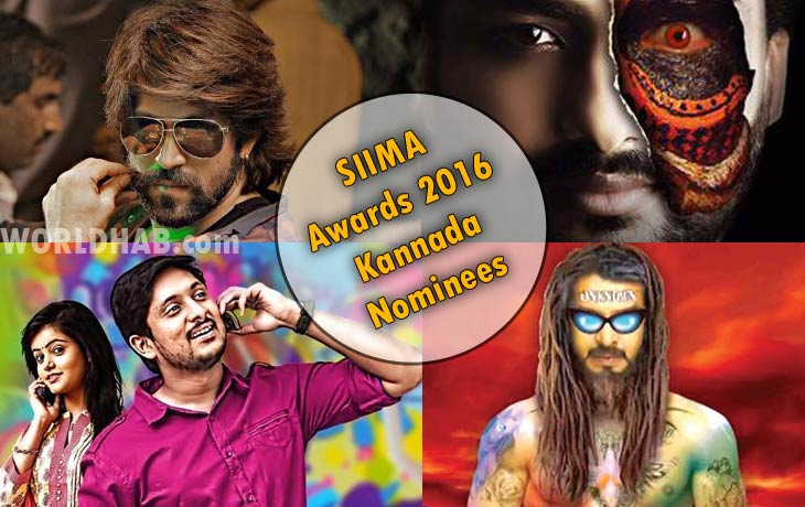 SIIMA Awards 2016 Kannada Nominees