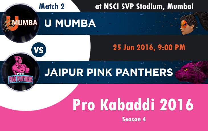 U Mumbai vs Jaipur Pink Panthers