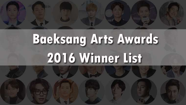 Baeksang Arts Awards 2016