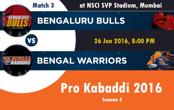 Bengaluru Bulls vs Bengal Warriors