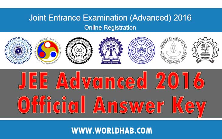 JEE Answer Key 2016