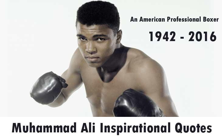 Muhammad Ali Inspirational Quotes