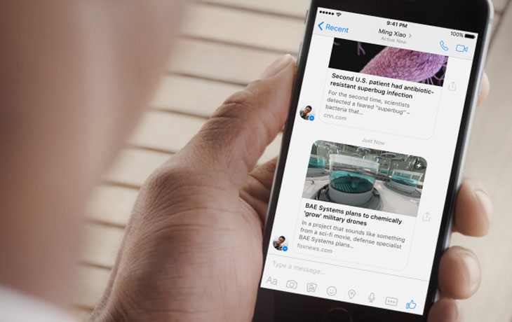 Facebook Instant Articles in Messenger