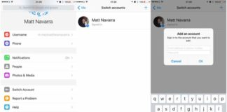 Facebook Messenger Account Switching on iOS