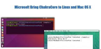 Microsoft Bring ChakraCore to Linux and Mac OS X.