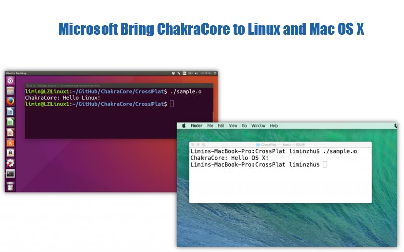 Microsoft ChakraCore to Linux and Mac OS X.