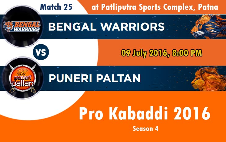 Bengal Warriors vs Puneri Paltan