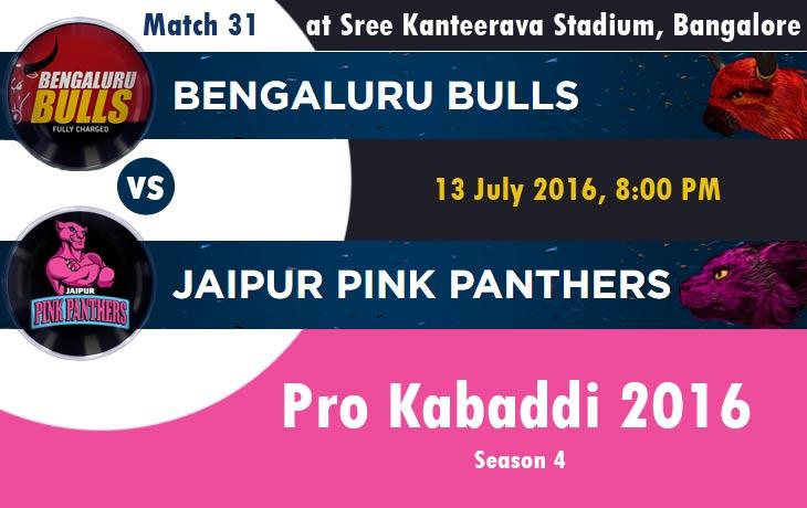 Bengaluru Bulls vs Jaipur Pink Panthers