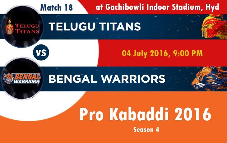 Telugu Titans vs Bengal Warriors