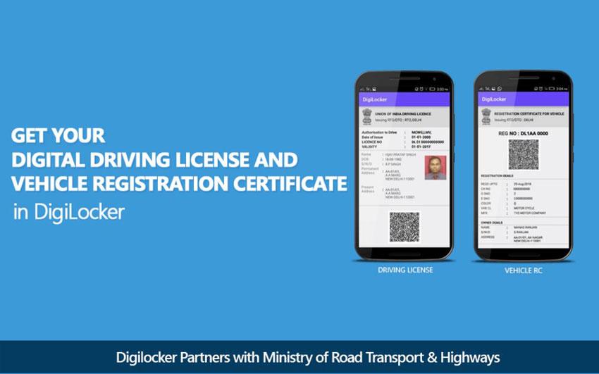 DigiLocker mobile app for driving licence and registration certificate digitally
