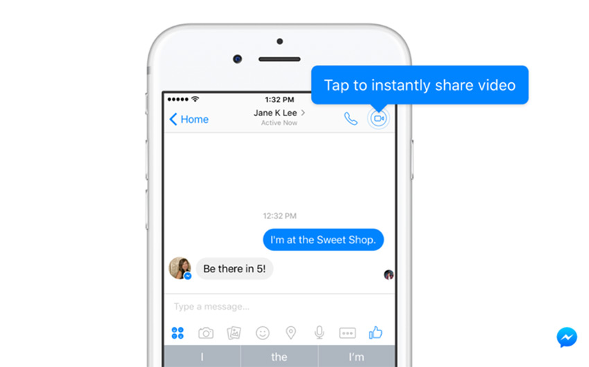 Facebook Messenger adds 'Instant Video' Chat