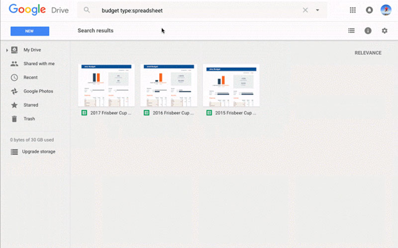Google Drive - Search faster and with ease like Google Search