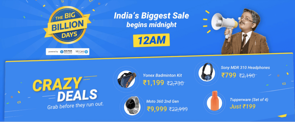Flipkart Big Billion Day Sale Deals and Offer
