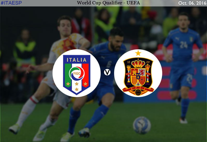 Italy vs Spain World Cup qualifier