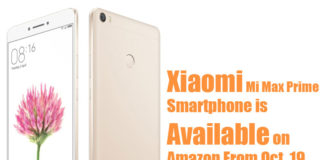 Xiaomi Mi Max Prime is Available on Amazon Flash Sale from October 19