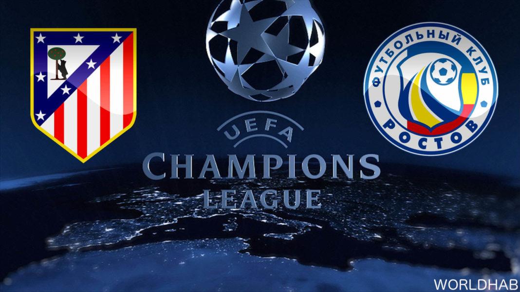 Atletico Madrid vs FC Rostov Live