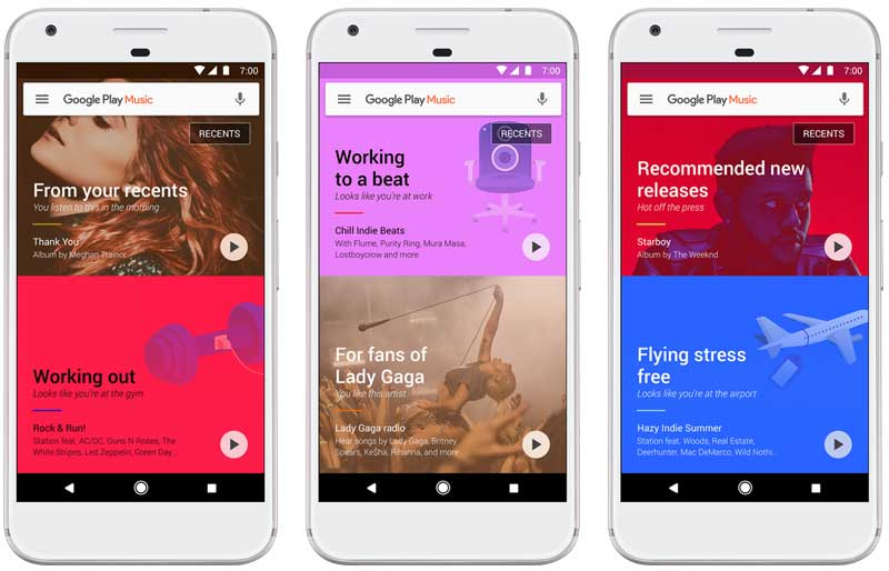 New Google Play Music introduced with New Smarter Playlists and UI