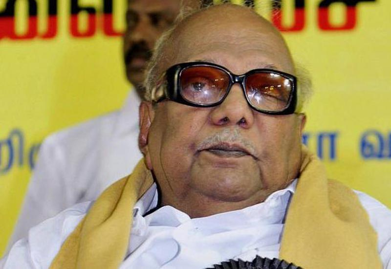 DMK chief Karunanidhi readmitted to Kauvery hospital on Dec. 15