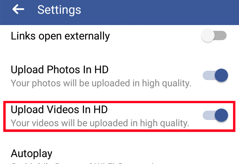Facebook HD video Uploads