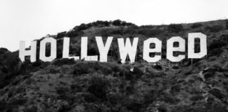 Hollywood Sign changed to Hollyweed- New Year Prank