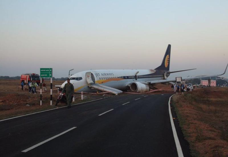 In India Jet Airways Goa-Mumbai flight veers off runway