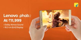 Lenovo Phab 2 launched by Flipkart Check Specifications, Price, Features