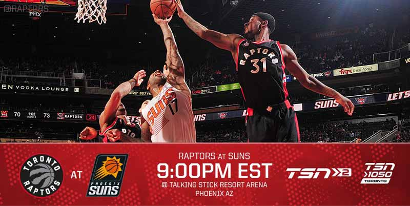 Toronto Raptors vs Phoenix Suns Live Streaming