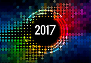 new year 2017 color wallpaper