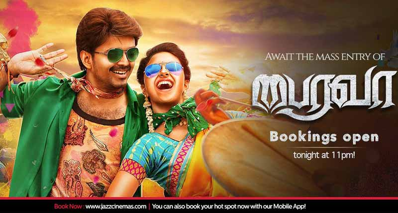 Bairavaa Advance Booking Open in Jazz Cinemas Now