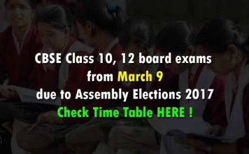 CBSE Class 10, 12th exams from March 9 due to Assembly Elections 2017 Check Time Table