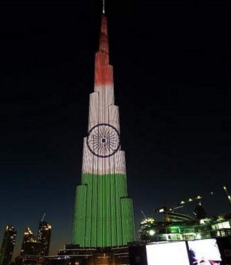 burj khalifa indian republic day celebration