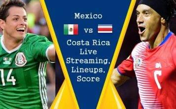 Mexico vs Costa Rica Live Streaming, Live Score