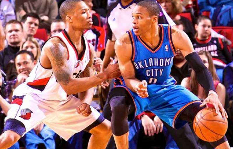 Oklahoma City Thunder Vs Portland Trail Blazers Lineups