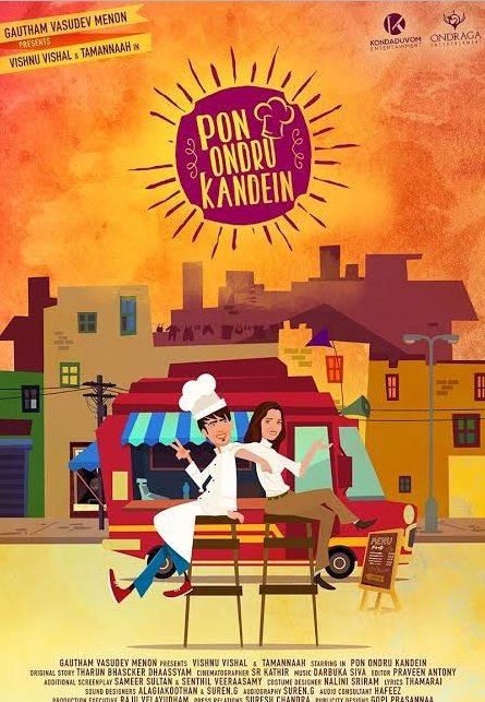 Pon Ondru Kanden First Look Poster Released - Vishnu Vishal, Tamannah