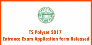 TS Polycet 2017 Entrance Exam Application form Released